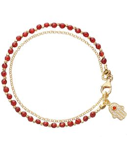 Agate Hamsa Small Biography Bracelet