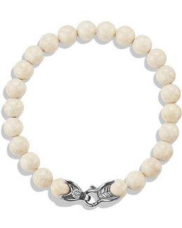 Spiritual Beads Bracelet With River Stone, 8mm