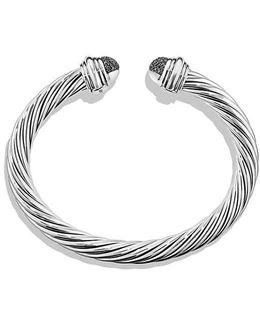 Cable Classic Bracelet With Black Diamonds, 7mm