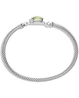 Petite Wheaton Bracelet With Prasiolite And Diamonds