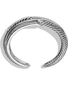 Labyrinth Triple-loop Cuff Bracelet Bracelet With Diamonds, 28mm