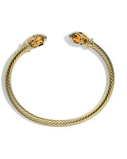 Cable Wrap Bracelet With Champagne Citrine And Diamonds In 18k Gold