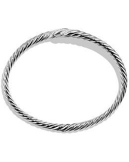 Willow Open Single-row Bracelet With Diamonds, 11mm