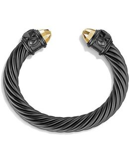 Renaissance Bracelet In Black And Gold Aluminum, 10mm