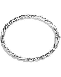 Wisteria Bracelet With Diamonds In 18k White Gold, 5mm