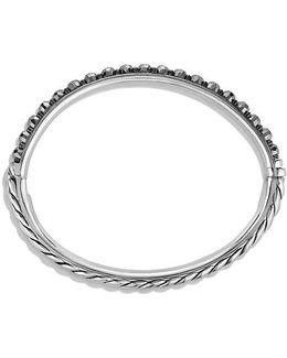 Osetra Bangle Bracelet With Hematine, 5mm
