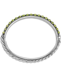 Osetra Bangle Bracelet With Peridot