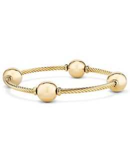 Mustique Four Station Bangle Bracelet In 18k Yellow Gold
