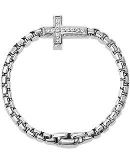 Pavé Cross Bracelet With Diamonds