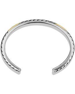 Modern Chevron Cuff Bracelet With 18k Gold