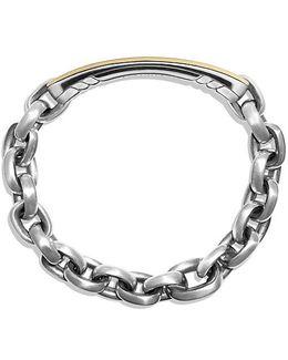 Streamline Id Bracelet With 18k Gold