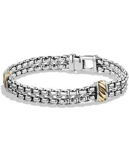 Cable Classic Two-row Chain Bracelet With 18k Gold