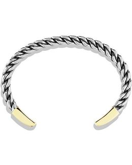 Woven Cuff Bracelet With 18k Gold