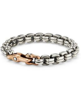 Anvil Chain Bracelet With Bronze