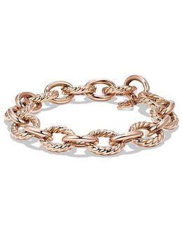 Large Oval Link Bracelet In 18k Rose Gold