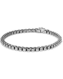 Double Box Chain Bracelet , 4mm