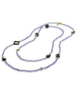 Dy Signature Bead Necklace With Tanzanite, Labradorite, Diamonds And 18k Gold