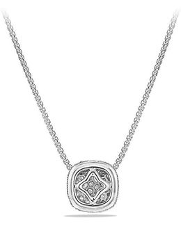 Pavé Diamond Pendant Necklace In 18k White Gold