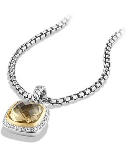 Albion® Pendant With Champagne Citrine, Diamonds And 18k Gold, 11mm