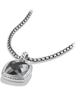 Albion® Pendant With Hematine And Diamonds, 14mm
