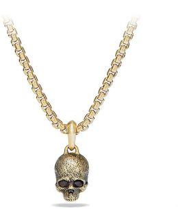 Cable Classics Skull Pendant In 18k Gold