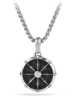 Dharma Wheel Amulet With Diamonds
