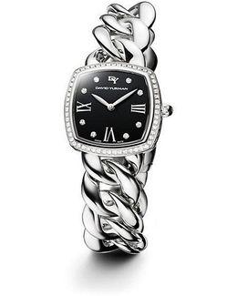 Albion 27mm Stainless Steel Quartz Timepiece With Diamonds