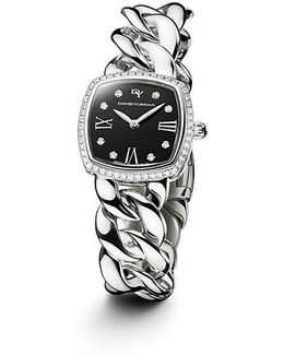 Albion 23mm Stainless Steel Quartz Timepiece With Diamonds