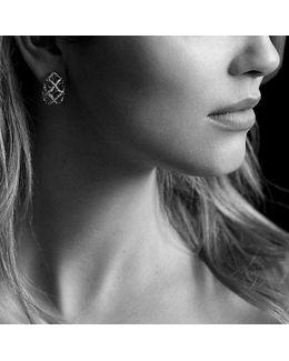 Venetian Quatrefoil Earrings With Diamonds In 18k Gold
