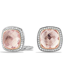 Albion Earrings With Morganite And 18k Rose Gold, 11mm