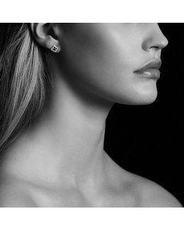 Venetian Quatrefoil® Earrings With Emeralds And Diamonds In 18k Gold