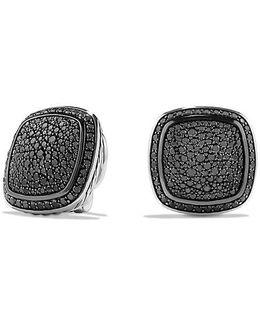 Albion Earrings With Black Diamonds, 14mm