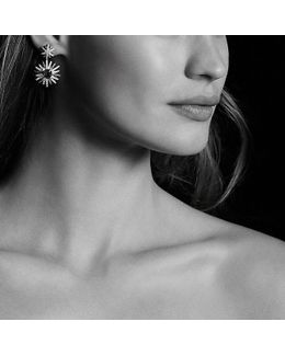 Starburst Drop Earrings With Prasiolite And Diamonds