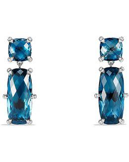 Châtelaine Double Drop Earrings With Hampton Blue Topaz And Diamonds