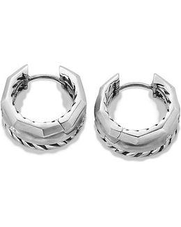 Stax Huggie Hoop Earrings With Diamonds