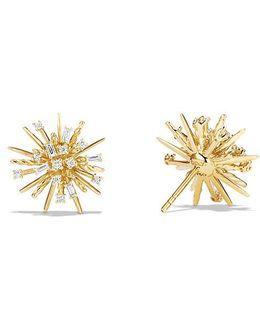 Supernova Stud Earrings With Diamonds In 18k Gold