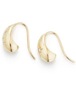 Pure Form® Pod Earrings With Diamonds In 18k Gold, 15mm