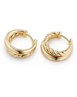 Pure Form Hoop Earrings In 18k Gold, 25.5mm