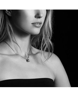 Cable Wrap Necklace With Black Onyx And Diamonds, 10mm