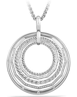 Stax Large Pendant Necklace With Diamonds