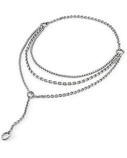 Mixed Chain Y Necklace