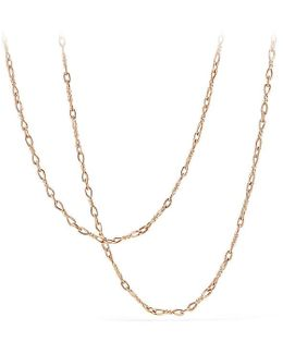 Continuance Small Chain Necklace In 18k Rose Gold