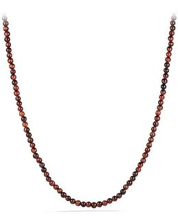 Spiritual Bead Necklace With Red Tiger's Eye