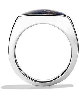 Exotic Stone Signet Ring With Pietersite