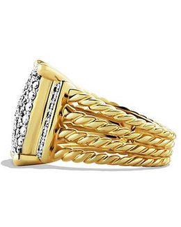Wheaton Ring With Diamonds In 18k Gold