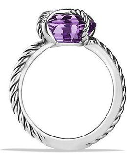 Cable Wrap Ring With Amethyst And Diamonds