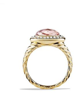 Albion® Ring With Morganite And Diamonds In 18k Gold