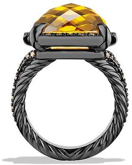 Châtelaine® Ring With Citrine And Cognac Diamonds
