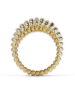 Tempo Ring With Diamonds In 18k Gold