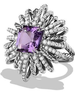 Starburst Ring With Amethyst And Diamonds